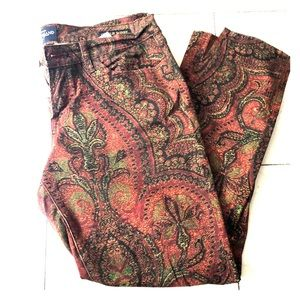 Lucky brand Charlie skinny printed skinny's